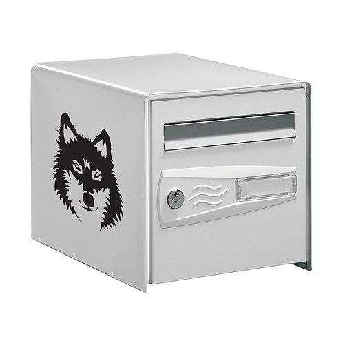 Sticker Déco Boîte aux lettres  Tête de Loup