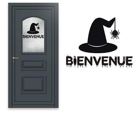 """Sticker Halloween """"Bienvenue"""""""