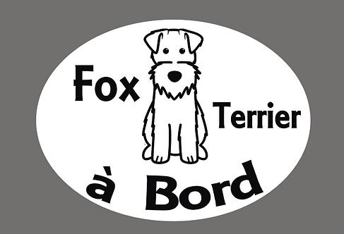 Fox Terrier à Bord - Personnalisation possible