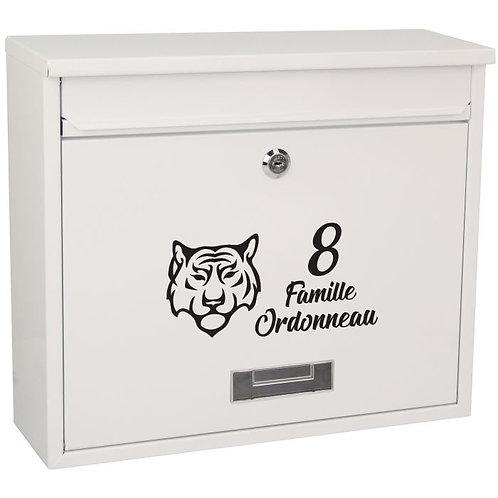 Sticker Boîte aux lettres Tigre