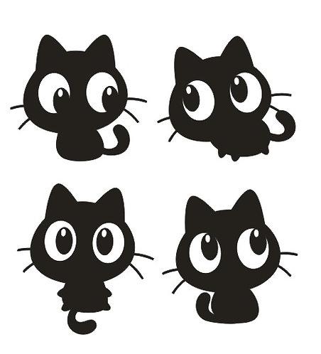 1 planche de 4 chats de BD