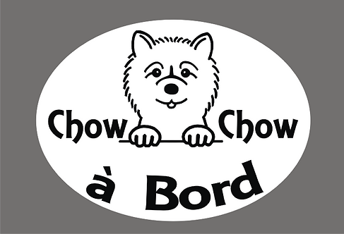 Chow-Chow à Bord - Personnalisation possible