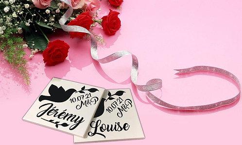 Sticker pour sous-verres Mariage 4