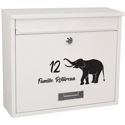 Sticker Boîte aux lettres Eléphant