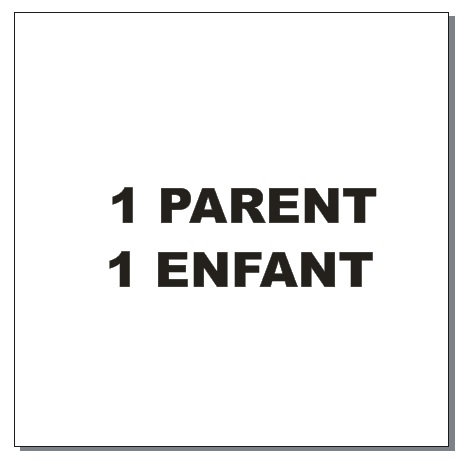 Sticker BAL Famille hiboux: 1 parent, 1 enfant