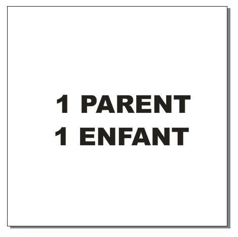 Sticker BAL Famille: 1 parent, 1 enfant