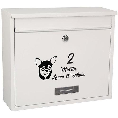 Sticker Boîte aux lettres Chihuahua