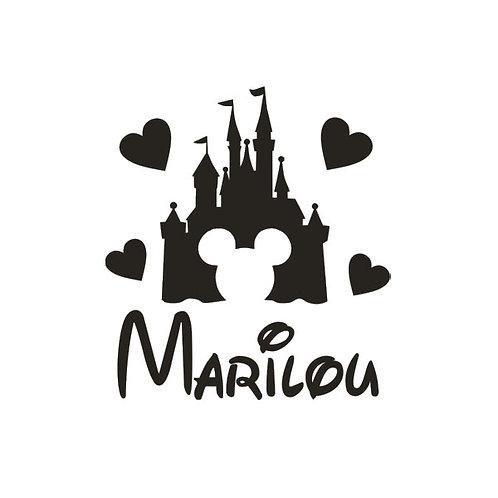 Sticker Chambre - Thème Château Disney