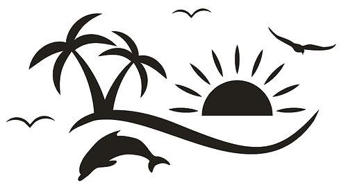 Sticker Palmiers Dauphin