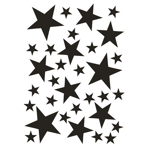 32 stickers étoiles