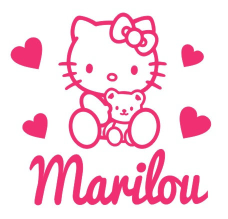 Sticker Chambre -Thème Hello Kitty