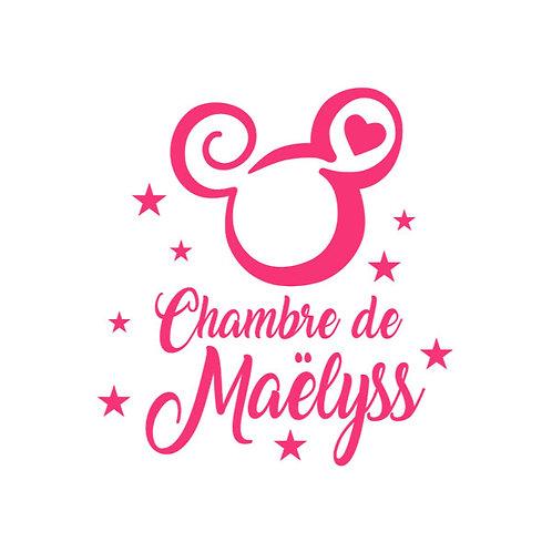 Sticker Chambre - Thème Logo Mickey