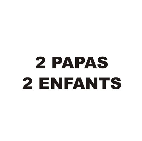 Sticker BAL Famille: 2 papas, 2 enfants