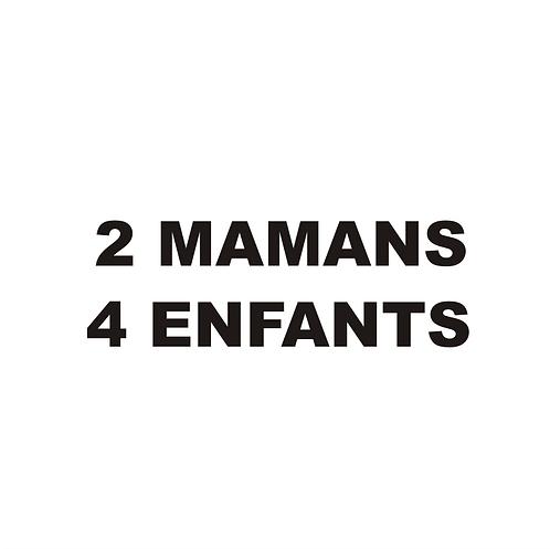 Sticker BAL Famille: 2 mamans, 4 enfants