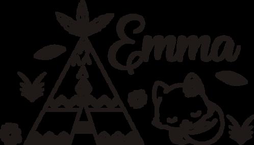 Sticker Chambre - Thème Tipi Renard