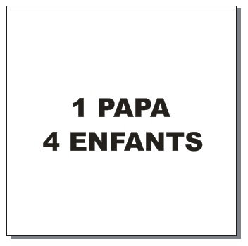 Sticker BAL Famille: 1 papa, 4 enfants