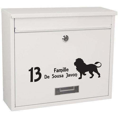 Sticker Boîte aux lettres Lion
