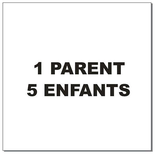 Sticker BAL Famille hiboux: 1 parent, 5 enfants