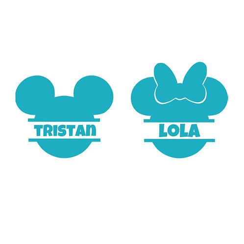 Sticker Chambre - Thème Tête de Mickey ou Minnie