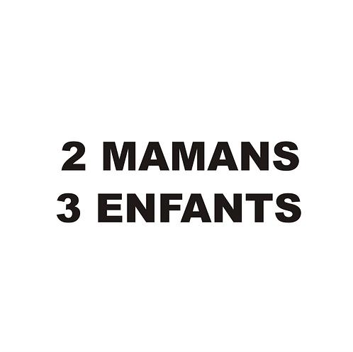 Sticker BAL Famille: 2 mamans, 3 enfants