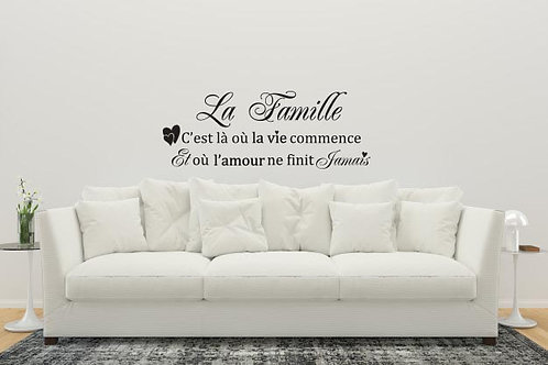 Sticker La Famille....