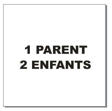 Sticker BAL Famille hiboux: 1 parent, 2 enfants