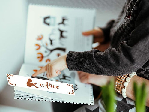 Marque-pages - Dessin + Prénom au Choix -
