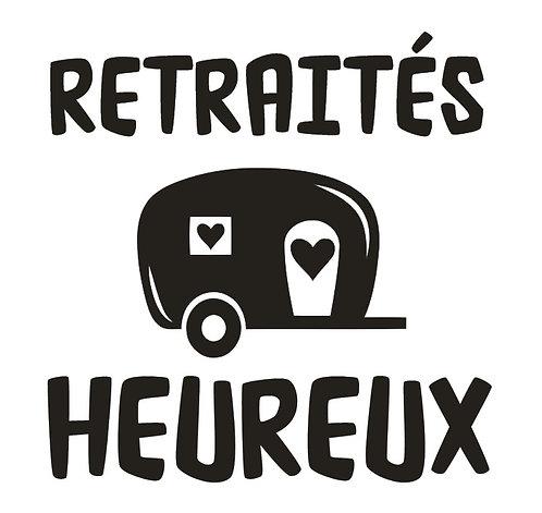 "Sticker ""Retraités heureux"""