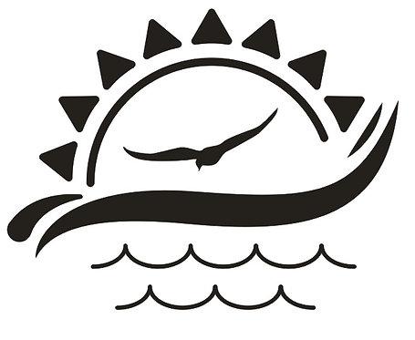 Sticker Mer Soleil Mouette