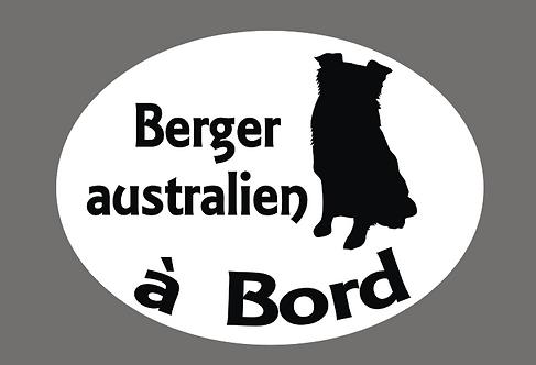 Berger Australien à Bord - Personnalisation possible
