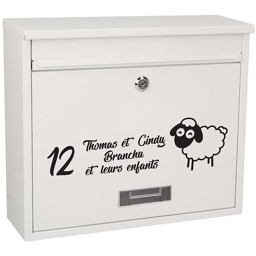 Sticker Boîte aux lettres Mouton