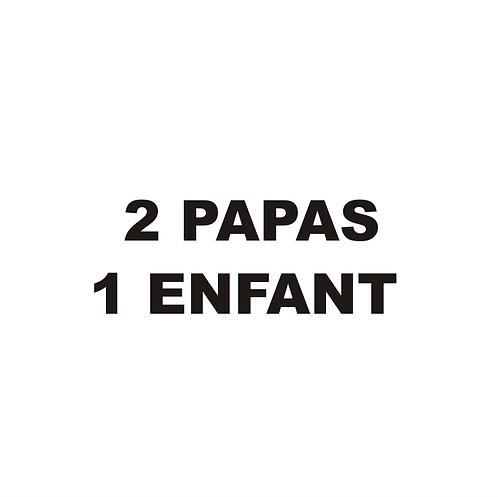Sticker BAL Famille: 2 papas, 1 enfant