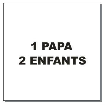 Sticker BAL Famille renards: 1 papa, 2 enfants