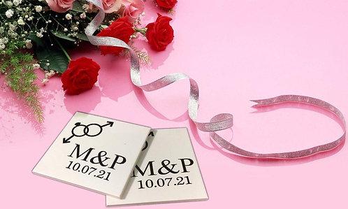 Sticker pour sous-verres Mariage 5