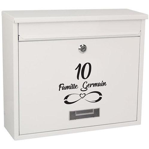 Sticker Boîte aux lettres Symbole Infini 1