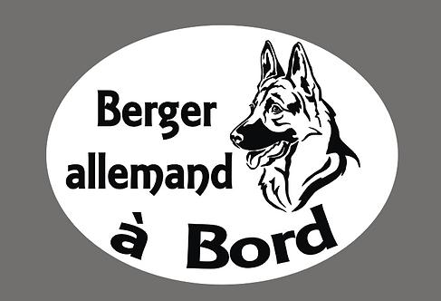 Berger Allemand à Bord - Personnalisation possible