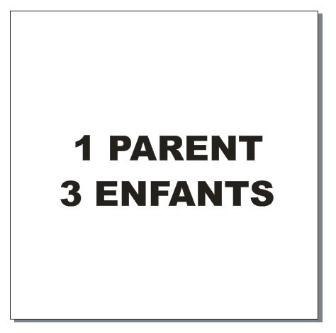 Sticker BAL Famille: 1 parent, 3 enfants