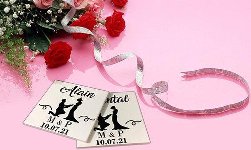 Sticker pour sous-verres Mariage 2