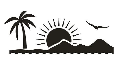 Sticker Dune Soleil Palmier