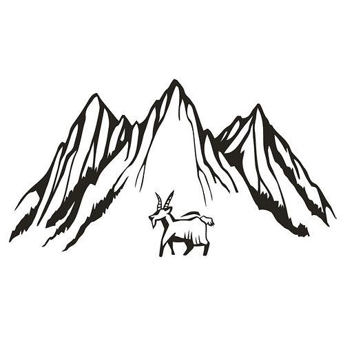 Sticker Montagne bouc