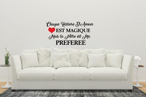 Sticker Notre Histoire d'amour....