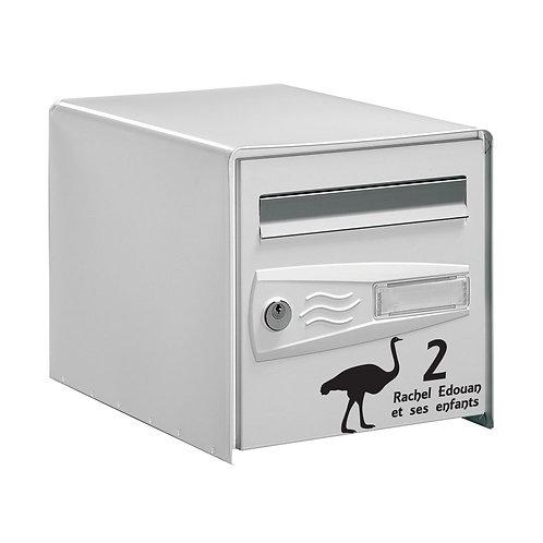 Sticker Boîte aux lettres Autruche