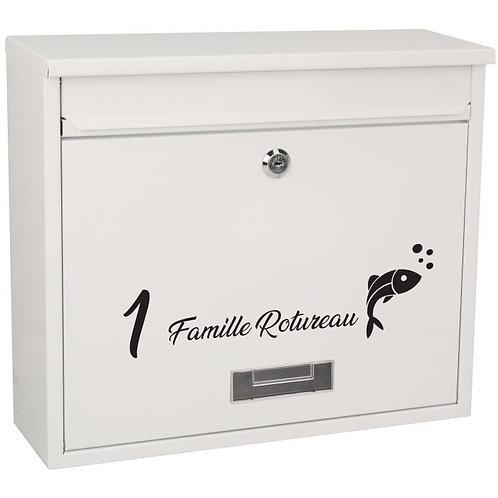 Sticker Boîte aux lettres Poisson