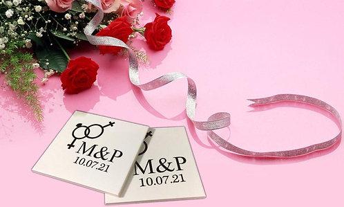 Sticker pour sous-verres Mariage 6