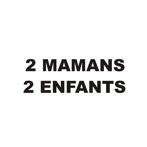 Sticker BAL Famille: 2 mamans, 2 enfants