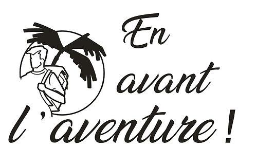 """Sticker """"En avant l'aventure"""""""