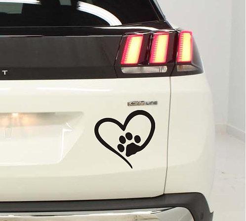 1 Sticker  j'aime les chiens 1