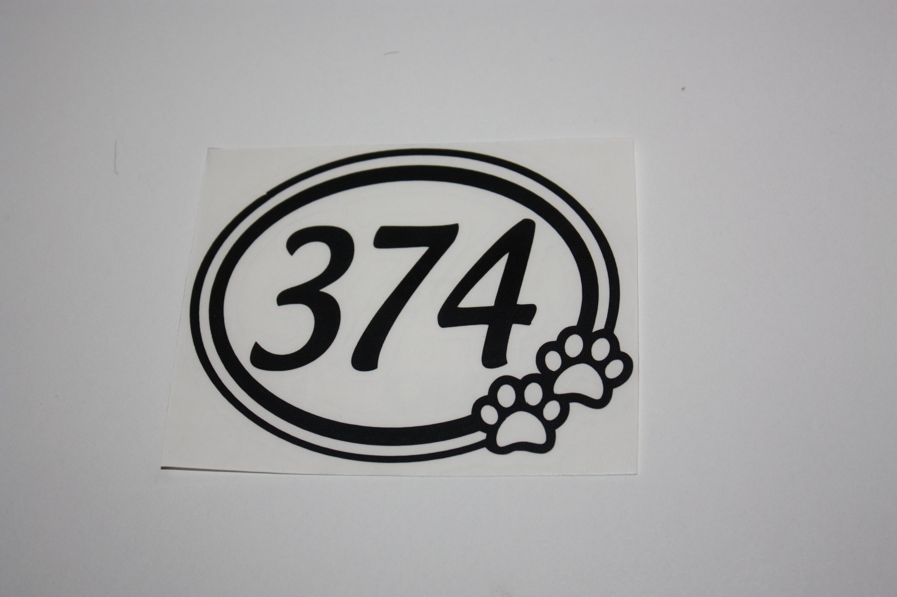 Numéro Pattes de chien