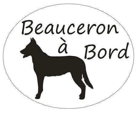 Sticker Beauceron à Bord - Personnalisation possible
