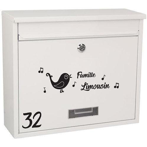 Sticker Boîte aux lettres Thème Oiseaux 4